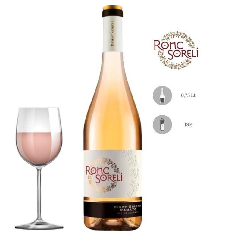 Vino bianco Pinot Grigio Ramato